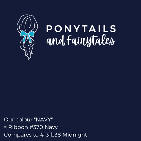Navy Hair Accessories - Ponytails and Fairytales