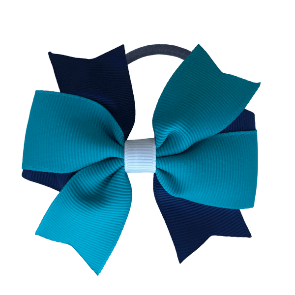 Navy & Teal & White Hair Accessories - Assorted Hair Accessories - School Uniform Hair Accessories - Ponytails and Fairytales