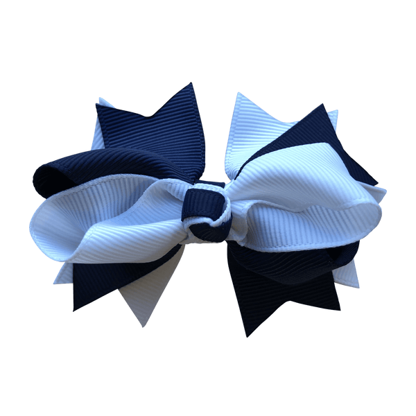 Navy & White Hair Accessories - Assorted Hair Accessories - School Uniform Hair Accessories - Ponytails and Fairytales