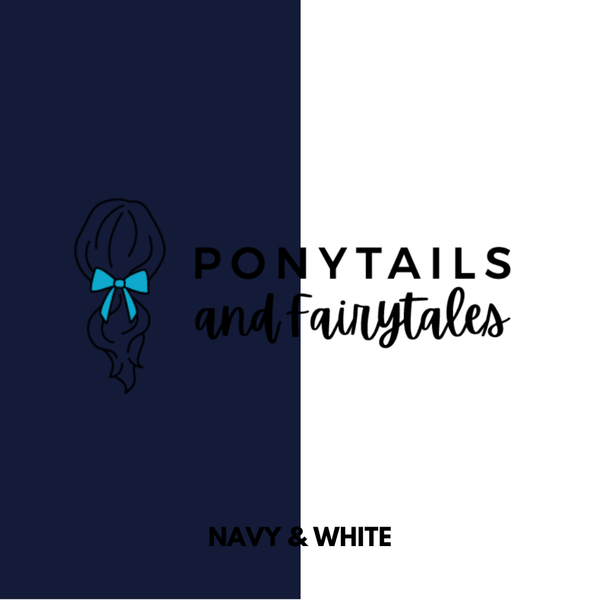 Navy & White Hair Accessories Assorted Hair Accessories School Ponytails - Colours