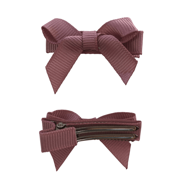 No Slip Bow Clips (2pc) - Hair clips - School Uniform Hair Accessories - Ponytails and Fairytales