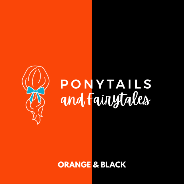Orange & Black Hair Accessories Assorted Hair Accessories School Ponytails - Colours