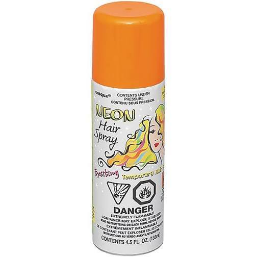 Orange Coloured Hair Spray 85-100g - Washable and temporary - School Uniform Hair Accessories - Ponytails and Fairytales
