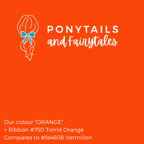 Orange Hair Accessories - Assorted Hair Accessories - School Uniform Hair Accessories - Ponytails and Fairytales