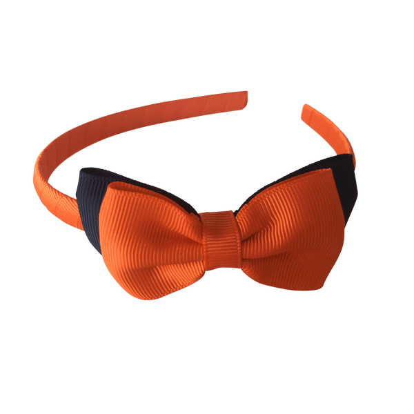Orange & Navy Hair Accessories - Assorted Hair Accessories - School Uniform Hair Accessories - Ponytails and Fairytales
