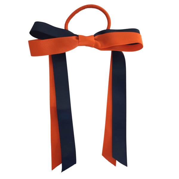 Orange & Navy Hair Accessories - Ponytails and Fairytales