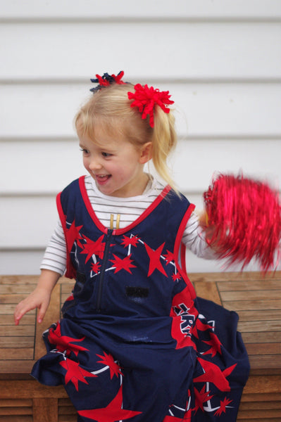 Orange Pom Poms (2pc) - Carnival and event - School Uniform Hair Accessories - Ponytails and Fairytales