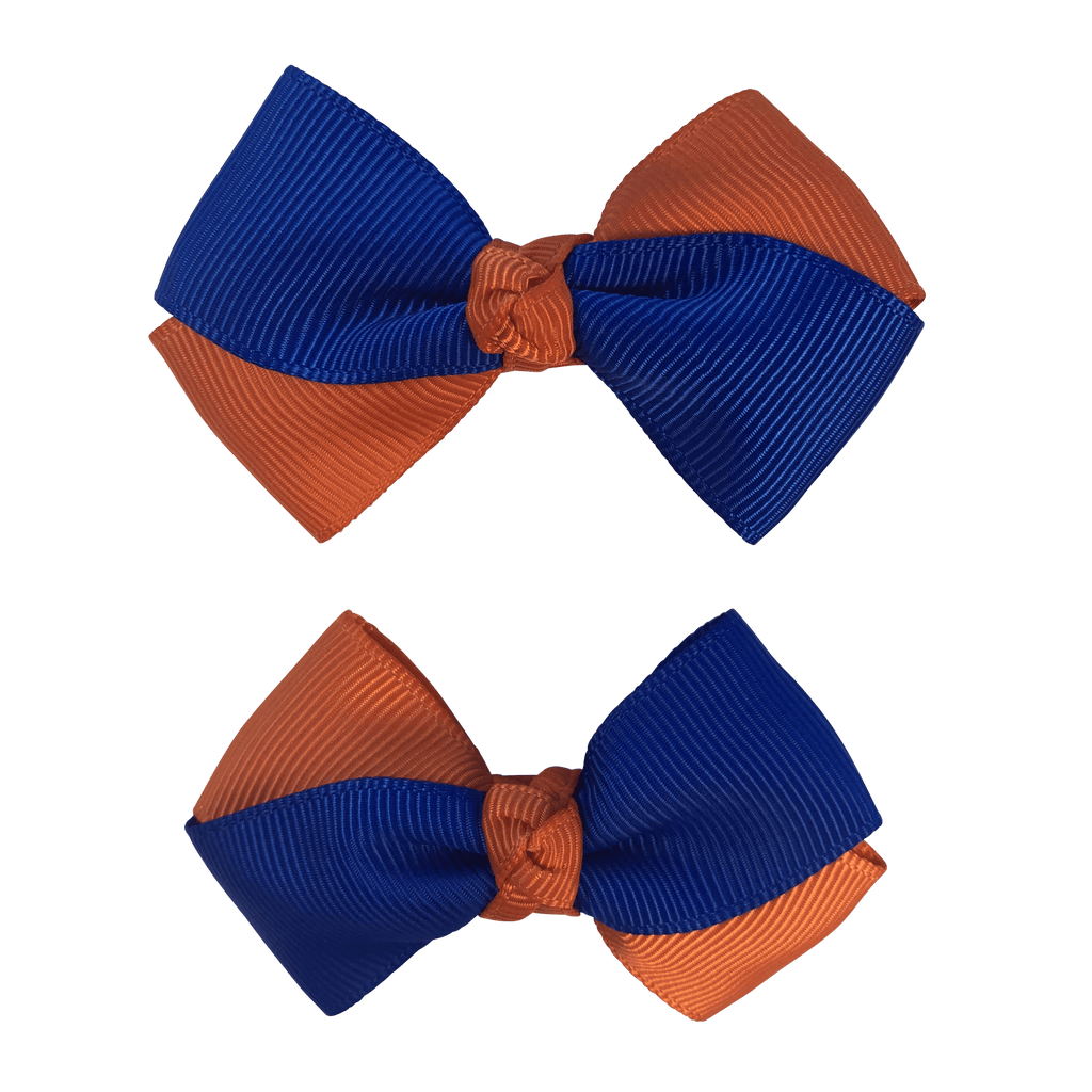 Orange & Royal Blue Hair Accessories - Assorted Hair Accessories - School Uniform Hair Accessories - Ponytails and Fairytales
