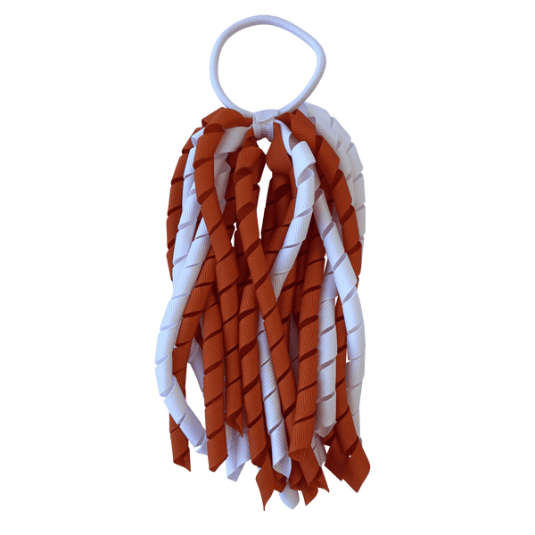Orange & White Hair Accessories - Assorted Hair Accessories - School Uniform Hair Accessories - Ponytails and Fairytales