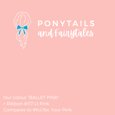 Pastel Ballet Pink Hair Accessories - Assorted Hair Accessories - School Uniform Hair Accessories - Ponytails and Fairytales