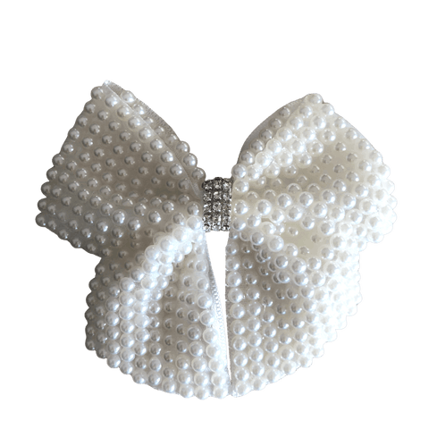 Pearl Embellished Bow Clip - Hair clips - School Uniform Hair Accessories - Ponytails and Fairytales