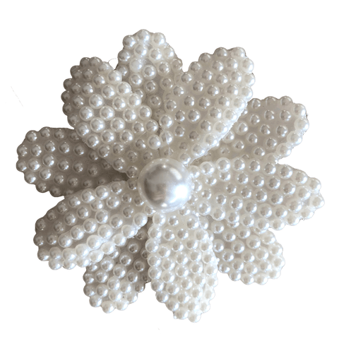 Pearl Embellished Flower Clip - Hair clips - School Uniform Hair Accessories - Ponytails and Fairytales