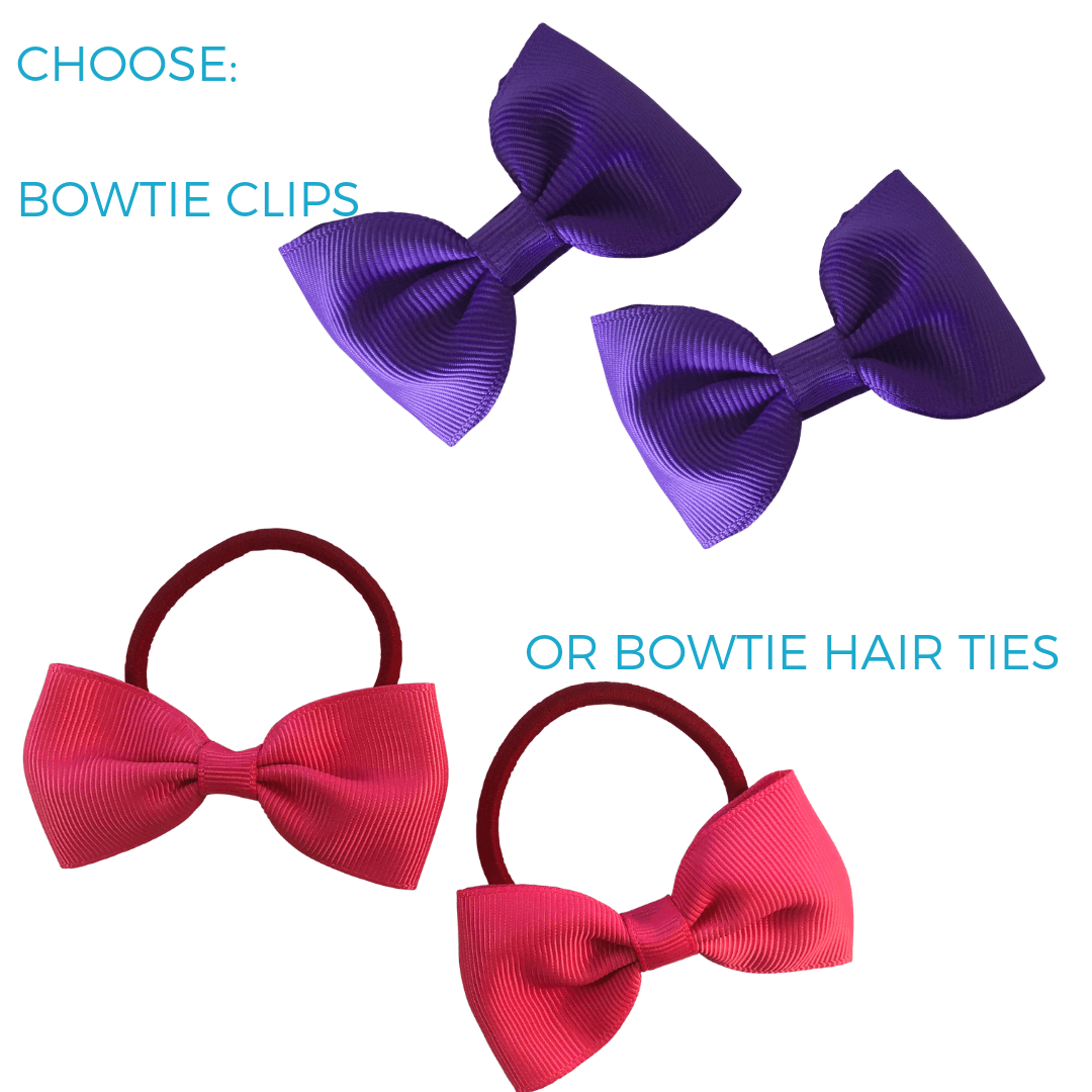 Perfect party favours for little girls' and boys' parties (10pc) - Bow Ties - School Uniform Hair Accessories - Ponytails and Fairytales