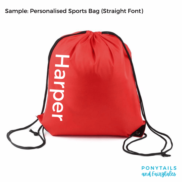Add Personalisation to Sports / Library Bag (+$8)