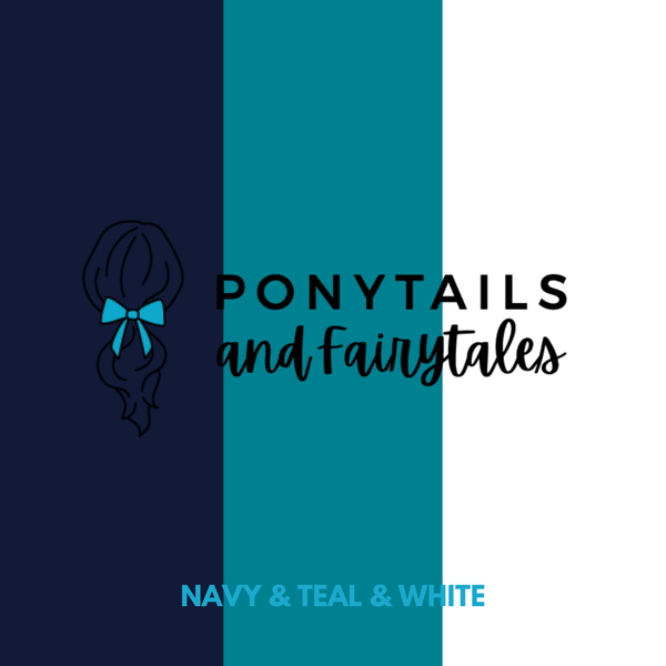 Ponytail Bow - hair ties - School Uniform Hair Accessories - Ponytails and Fairytales