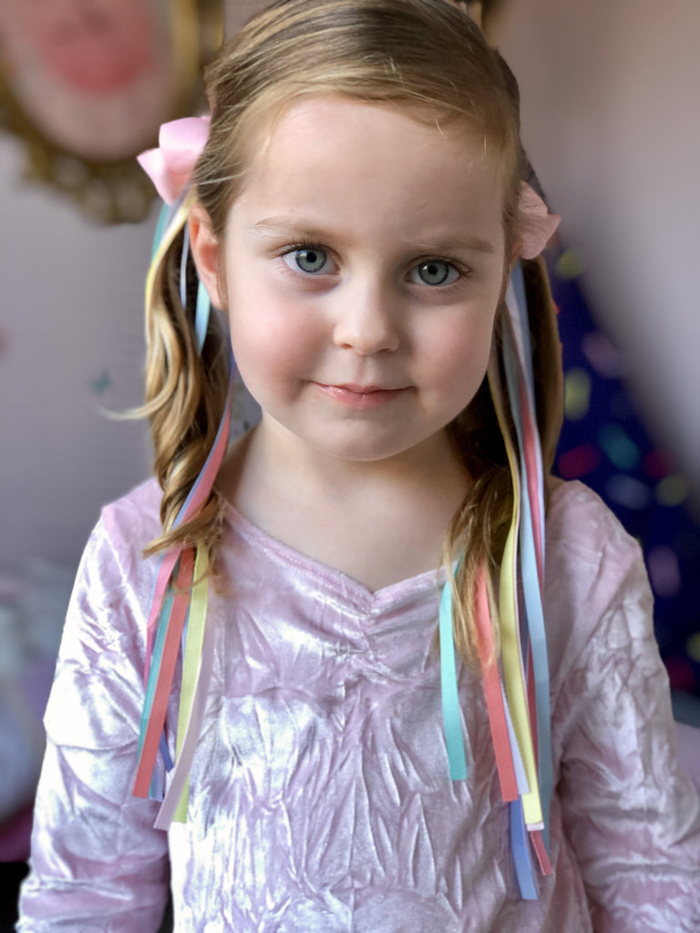 Ponytail Streamer - Pastel - Hair clips - School Uniform Hair Accessories - Ponytails and Fairytales