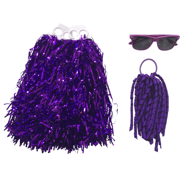 Purple Carnival Basics - Carnival and event - School Uniform Hair Accessories - Ponytails and Fairytales