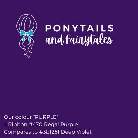 Purple Hair Accessories - Assorted Hair Accessories - School Uniform Hair Accessories - Ponytails and Fairytales