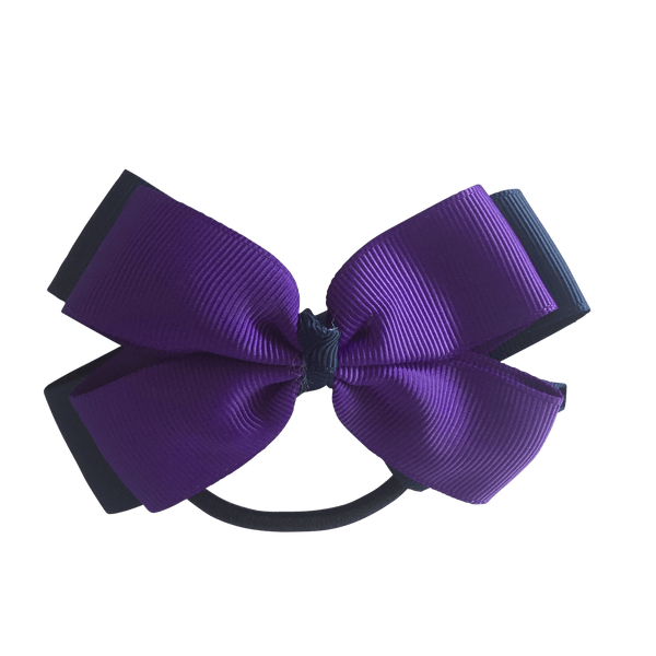Purple & Navy Hair Accessories - Assorted Hair Accessories - School Uniform Hair Accessories - Ponytails and Fairytales