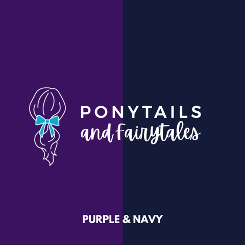 Purple & Navy Hair Accessories - Ponytails and Fairytales