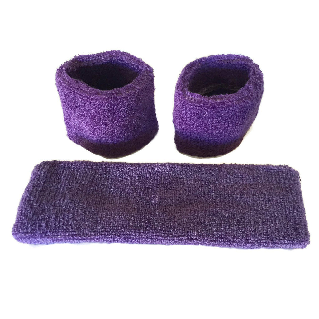 Purple Sweat Band Set (3pc) - Ponytails and Fairytales
