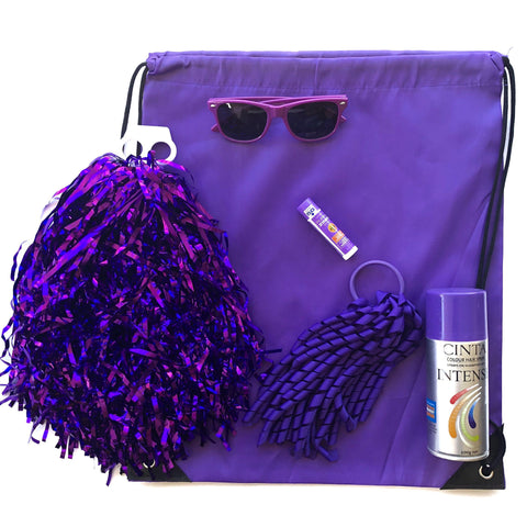 Purple Team Sports Day Range - Carnival and event - School Uniform Hair Accessories - Ponytails and Fairytales