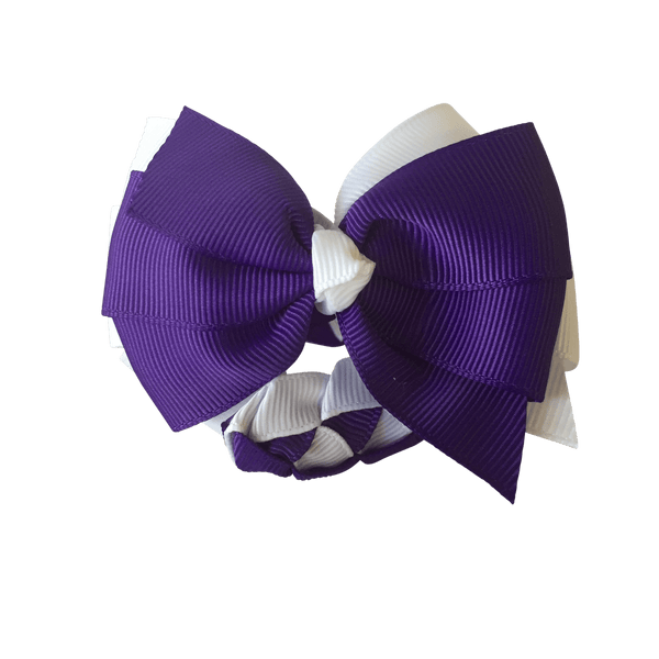 Purple & White Hair Accessories - Assorted Hair Accessories - School Uniform Hair Accessories - Ponytails and Fairytales