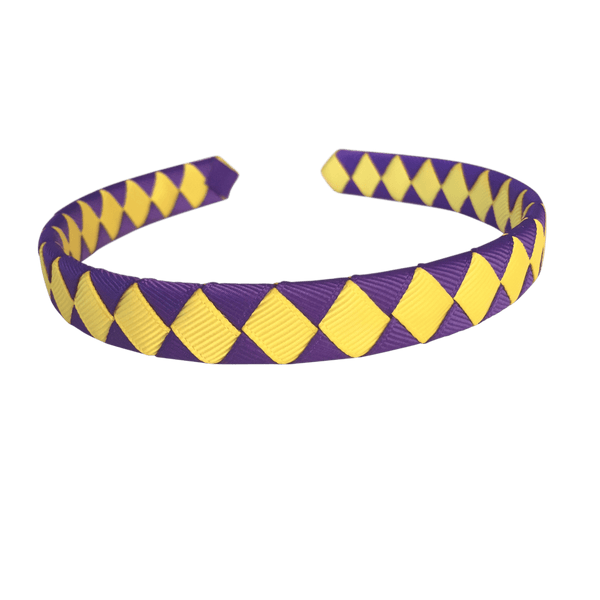 Purple & Yellow Hair Accessories - Assorted Hair Accessories - School Uniform Hair Accessories - Ponytails and Fairytales