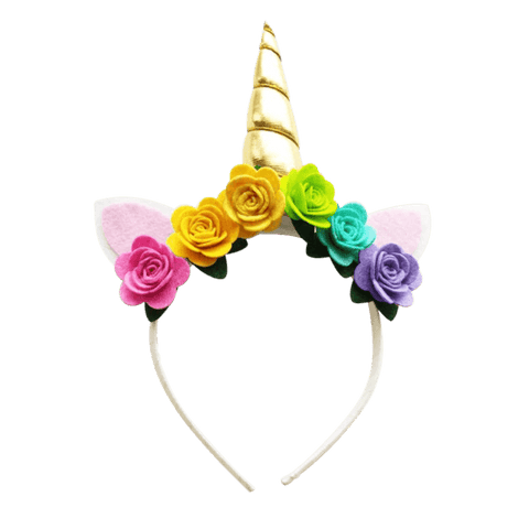 Rainbow Unicorn Horn Headband - Ponytails and Fairytales