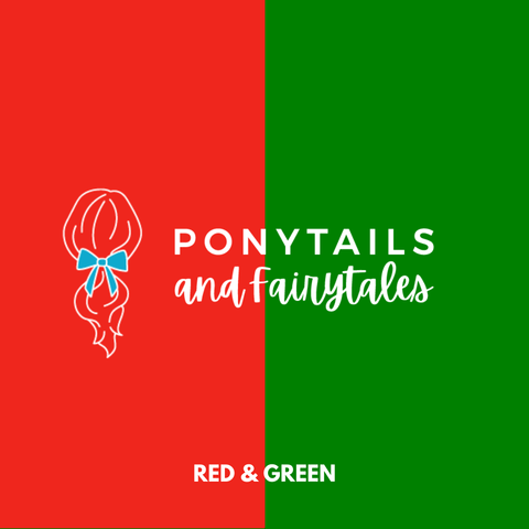 Red & Green Hair Accessories Assorted Hair Accessories School Ponytails - Colours