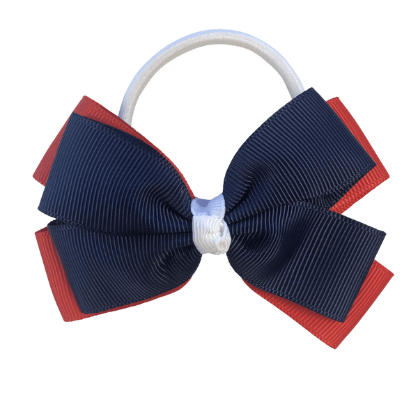 Red & Navy & White Hair Accessories - Assorted Hair Accessories - School Uniform Hair Accessories - Ponytails and Fairytales