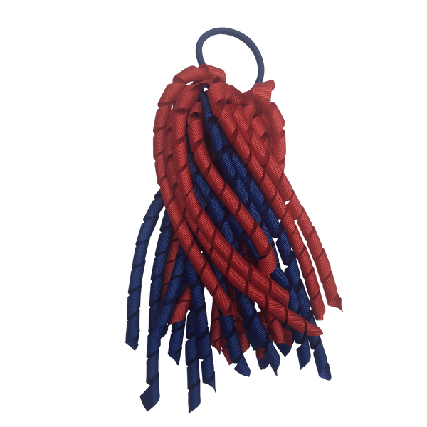 Red & Royal Blue Hair Accessories - Assorted Hair Accessories - School Uniform Hair Accessories - Ponytails and Fairytales