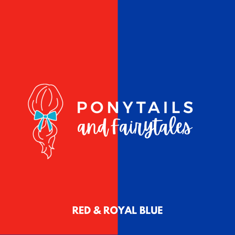 Red & Royal Blue Hair Accessories - Ponytails and Fairytales