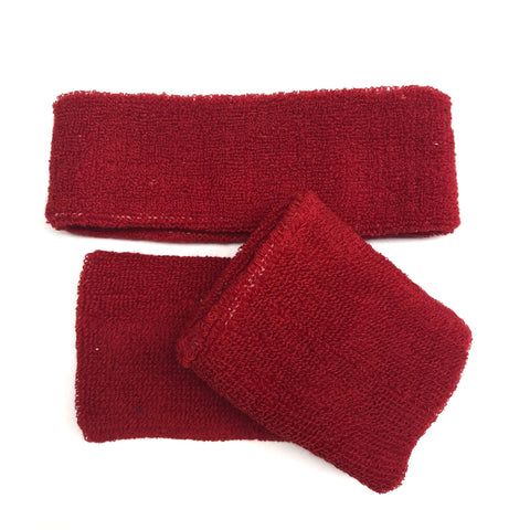 Red Sweat Band Set (3pc) - Ponytails and Fairytales