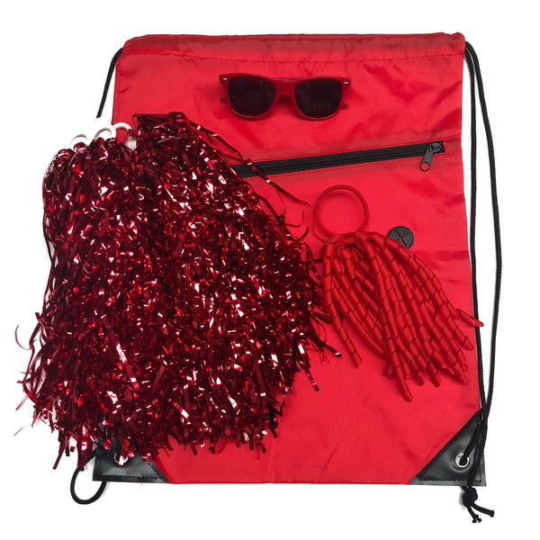 Red Team Sports Day Range - Carnival and event - School Uniform Hair Accessories - Ponytails and Fairytales