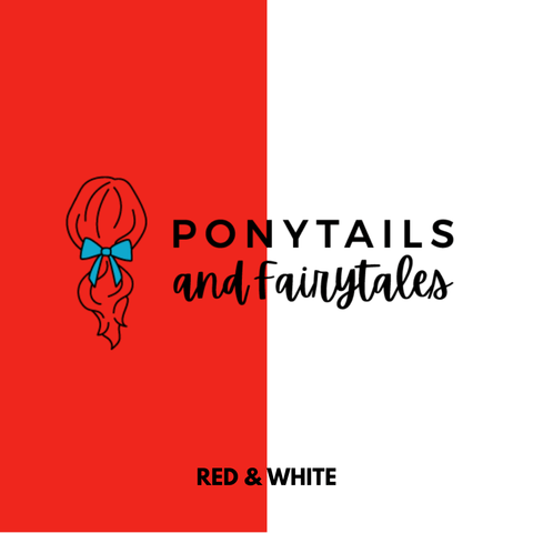 Red & White Hair Accessories Assorted Hair Accessories School Ponytails - Colours