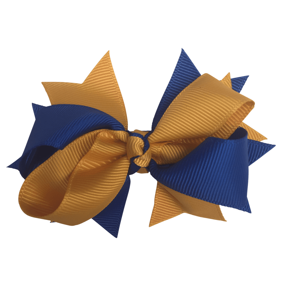 Royal Blue & Gold Hair Accessories - Assorted Hair Accessories - School Uniform Hair Accessories - Ponytails and Fairytales