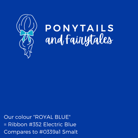 Royal Blue Hair Accessories Assorted Hair Accessories School Ponytails - Colours