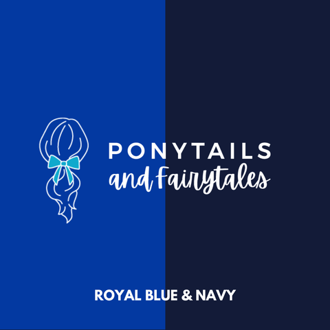 Royal Blue & Navy Hair Accessories - Assorted Hair Accessories - School Uniform Hair Accessories - Ponytails and Fairytales