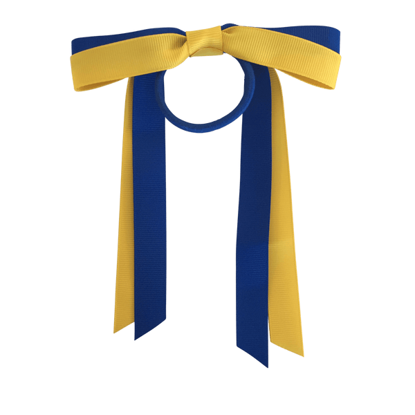 Royal Blue & Yellow Hair Accessories - Assorted Hair Accessories - School Uniform Hair Accessories - Ponytails and Fairytales