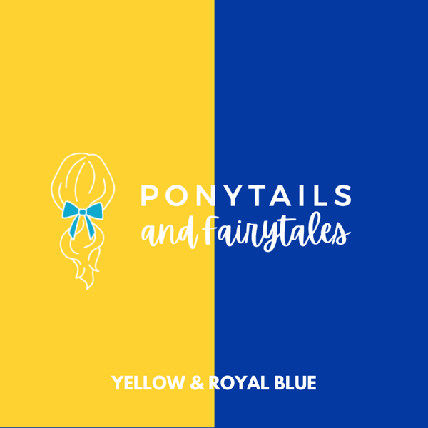 Royal Blue & Yellow Hair Accessories Assorted Hair Accessories School Ponytails - Colours