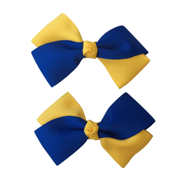 Royal Blue & Yellow Hair Accessories - Ponytails and Fairytales