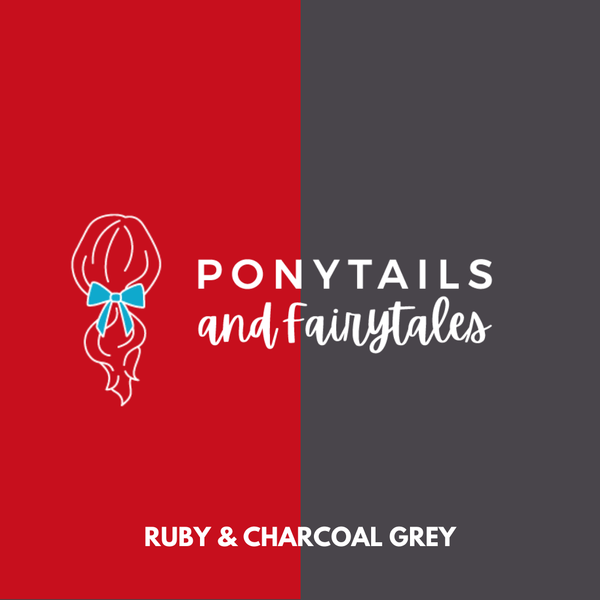 Ruby & Grey Hair Accessories - Ponytails and Fairytales