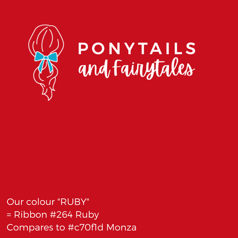 Ruby Hair Accessories - Ponytails and Fairytales