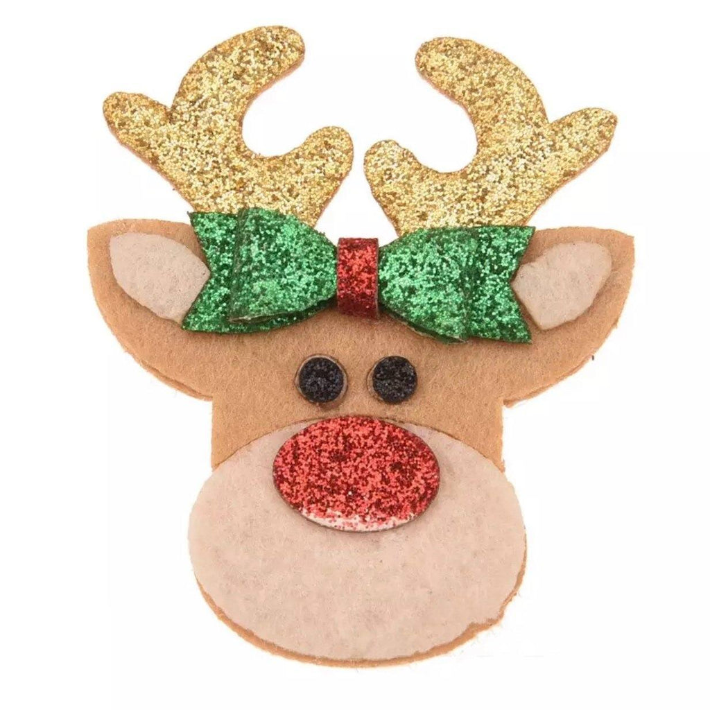 Rudolph the Red Nosed Reindeer Clip - christmas - School Uniform Hair Accessories - Ponytails and Fairytales