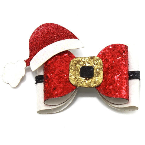Santa's Buckle Christmas Hair Clip - christmas - School Uniform Hair Accessories - Ponytails and Fairytales