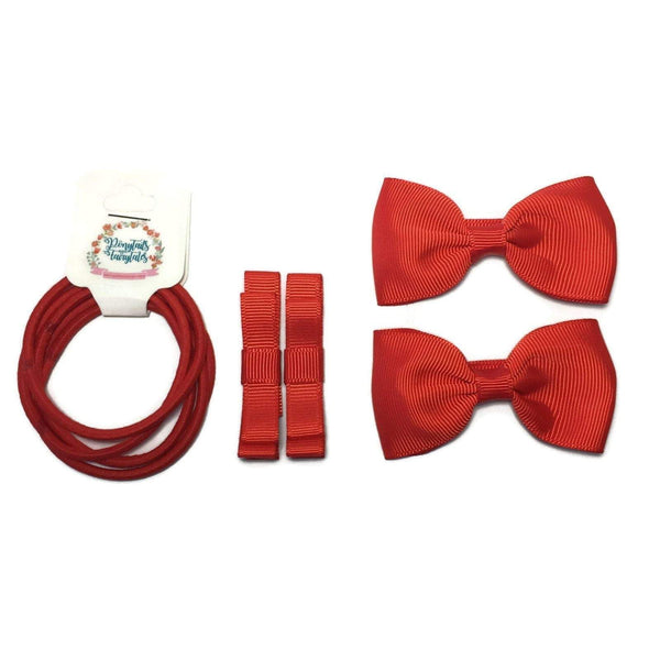 School Core Kit (9pc) - School kits - School Uniform Hair Accessories - Ponytails and Fairytales