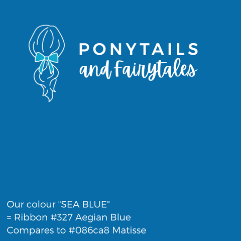Sea Blue Hair Accessories - Assorted Hair Accessories - School Uniform Hair Accessories - Ponytails and Fairytales