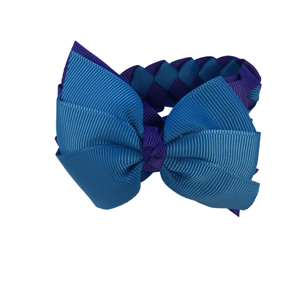 Sea Blue & Purple Hair Accessories - Assorted Hair Accessories - School Uniform Hair Accessories - Ponytails and Fairytales