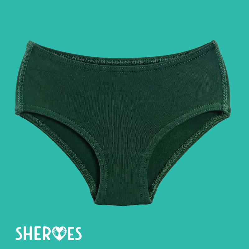sHEROes School Underwear - Dark Green / Bottle Green School Underwear sHEROes 5 1 pair